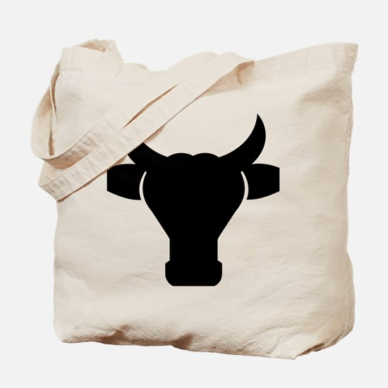 Cow Head Silhouette Tote Bag
