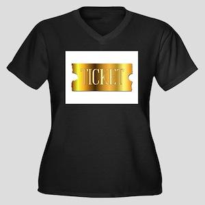 Simple Golden Ticket Plus Size T-Shirt