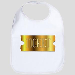 Simple Golden Ticket Bib