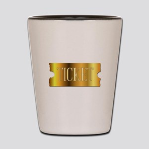 Simple Golden Ticket Shot Glass