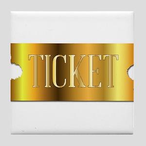 Simple Golden Ticket Tile Coaster
