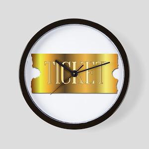 Simple Golden Ticket Wall Clock