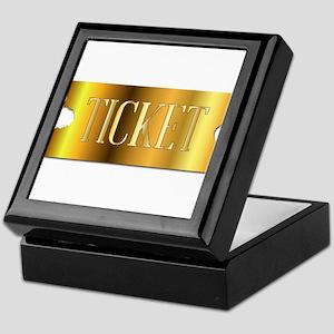 Simple Golden Ticket Keepsake Box