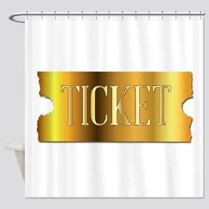 Simple Golden Ticket Shower Curtain