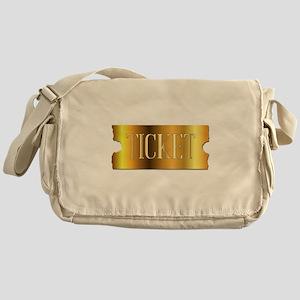 Simple Golden Ticket Messenger Bag