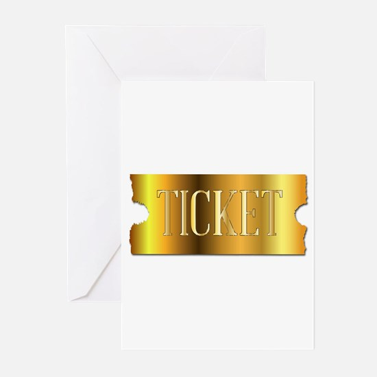 Simple Golden Ticket Greeting Cards