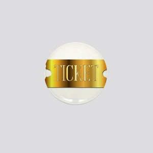 Simple Golden Ticket Mini Button