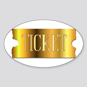 Simple Golden Ticket Sticker