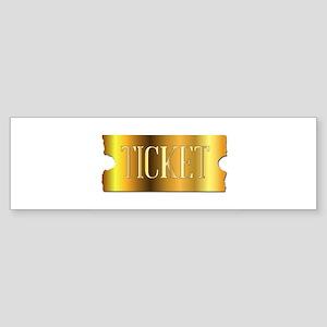 Simple Golden Ticket Bumper Sticker