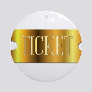 Simple Golden Ticket Round Ornament