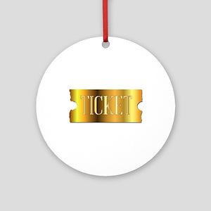 Simple Golden Ticket Round Ornament