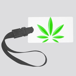 Neon Weed Plant Large Luggage Tag