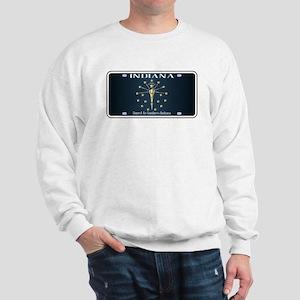 Indiana Flag License Plate Sweatshirt