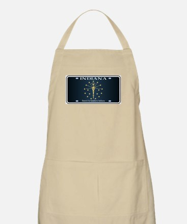 Indiana Flag License Plate Apron