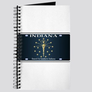 Indiana Flag License Plate Journal
