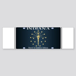 Indiana Flag License Plate Bumper Sticker