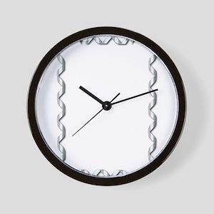 Silver Ribbon Border Wall Clock
