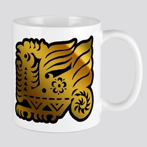 Chinese Zodiac Rooster Paper Cut Mug