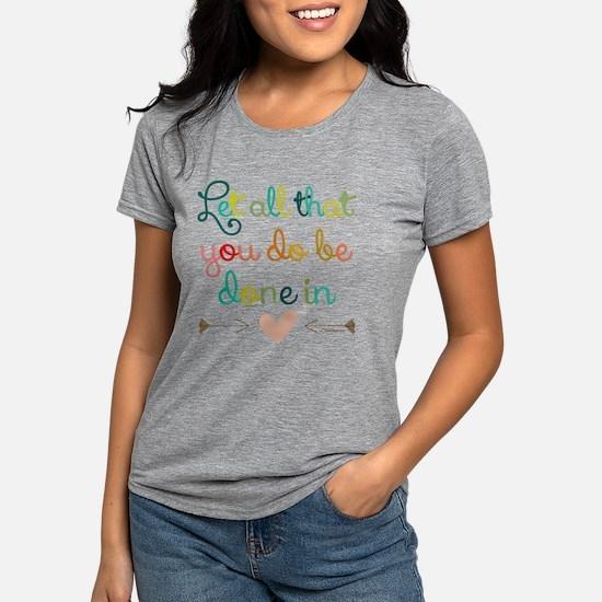 Cute Corinthians. Womens Tri-blend T-Shirt