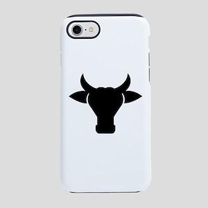 Cow Head Silhouette iPhone 8/7 Tough Case