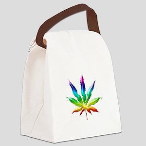 Rainbow Marijuana Canvas Lunch Bag