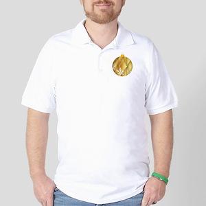 Golden Bauble Decoration Golf Shirt
