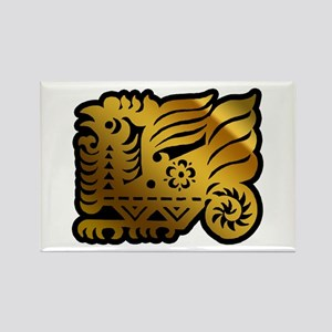 Chinese Zodiac Rooster Paper Cut Magnets