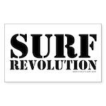 Surf Revolution Rectangle Sticker