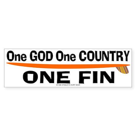 One God One Fin Bumper Sticker