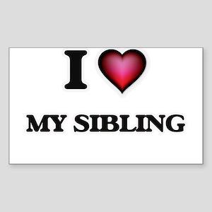 I Love My Sibling Sticker