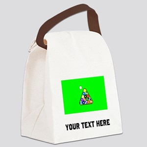 Billiards Table Canvas Lunch Bag