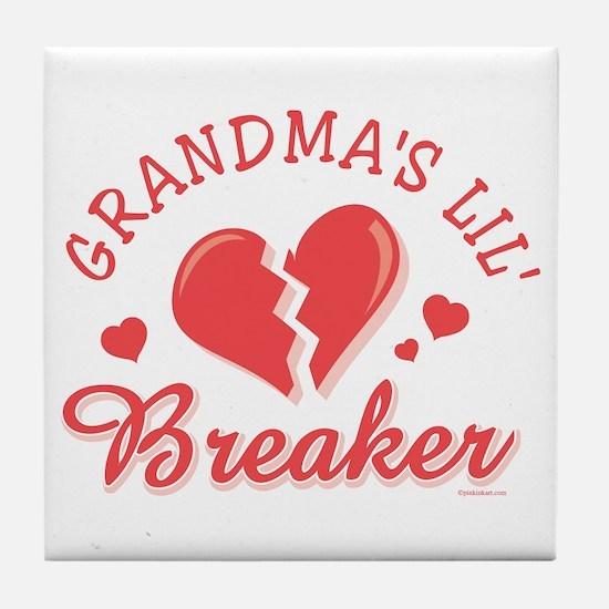 Grandma's Lil' Heartbreaker Tile Coaster