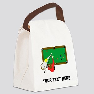 Pool Players Canvas Lunch Bag