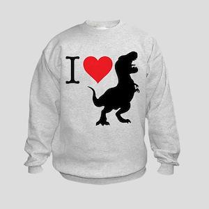 I Love T-Rex Kids Sweatshirt