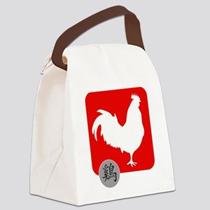 Asian Oriental Chinese Rooster Canvas Lunch Bag