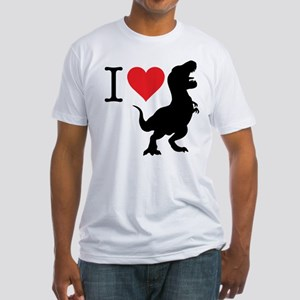 I Love T-Rex Fitted T-Shirt