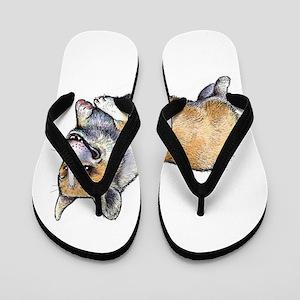 Corgi Joy Flip Flops