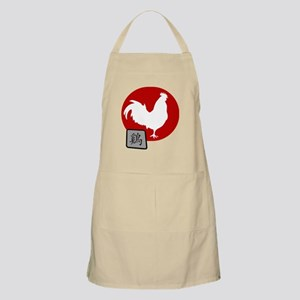 Asian Oriental Chinese Rooster Apron