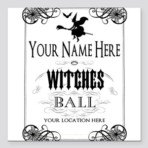 """Witches Ball Square Car Magnet 3"""" x 3"""""""