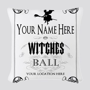 Witches Ball Woven Throw Pillow