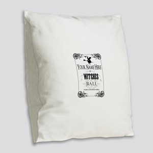 Witches Ball Burlap Throw Pillow