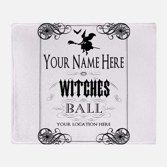 Witches Ball Throw Blanket