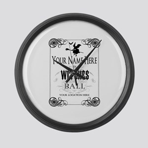 Witches Ball Large Wall Clock