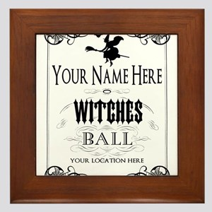 Witches Ball Framed Tile