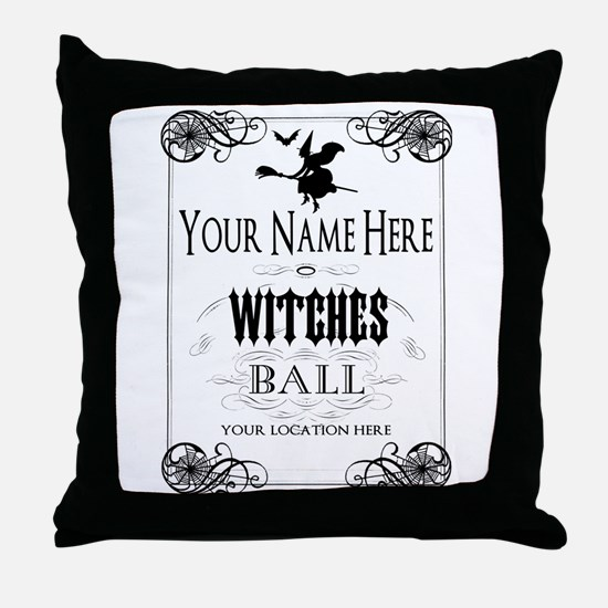 Witches Ball Throw Pillow