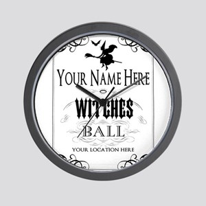 Witches Ball Wall Clock