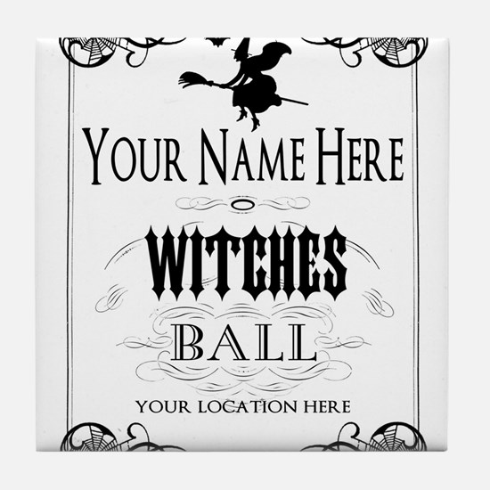 Witches Ball Tile Coaster