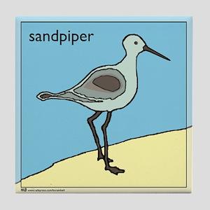 sandpiper Tile Coaster