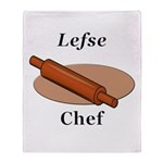 Lefse Chef Throw Blanket