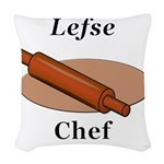 Lefse Chef Woven Throw Pillow